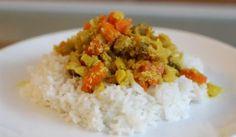 Fotorecept: Šampiňónové curry Grains, Curry, Rice, Food, Meal, Essen, Hoods, Curries, Meals
