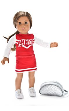 63d98ee89be6 Varsity Last Pass 2.0 cheer shoes for your American Girl doll. You ...