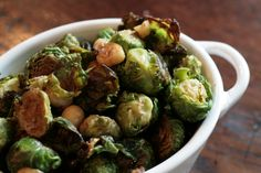 Brussel Sprouts with Hazelnut Brown Butter (I would have to use almonds...)