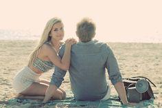 Vintage Beach Engagement Shoot in California