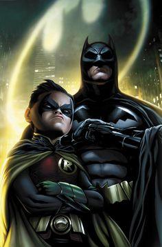 Batman and Robin - digital paint by JPRart, original art by Patrick Gleason