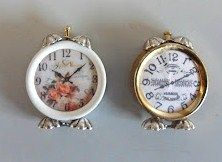 how to: shabby chic alarm clocks