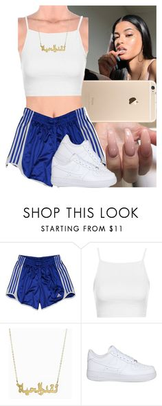 """""""Untitled #858"""" by msixo ❤ liked on Polyvore featuring adidas, Topshop and NIKE"""
