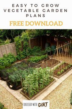 Free Vegetable Garden Layout, Plans and Planting Guides #vegetablegardeningdesign