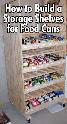 How to Build Rotating Storage Shelving for Cans - http://diyforlife.com/how-to-build-rotating-storage-shelving-for-cans/ - #DiyStorage, #Shelving