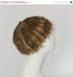 ON SALE 1950s Real Golden Brown Mink Tail by KrisVintageClothing, $35.99
