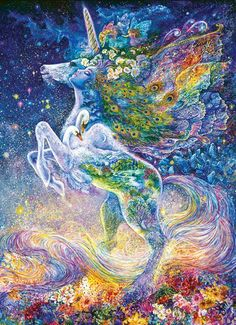 Josephine Wall: Soul of the Unicorn - 1000pc Jigsaw Puzzle by Masterpieces http://www.seriouspuzzles.com/i10553.asp:
