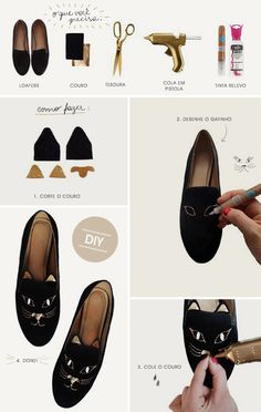 DIY Cat Loafers and Slippers