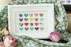 TROPICAL Heart Art Collaged Frame Piece