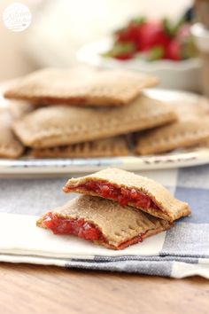 Whole Wheat Strawberry Graham Toaster Pastries from A Kitchen Addiction