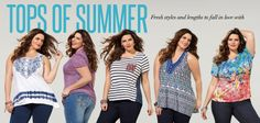 Plus Size Tops of Summer - Fresh styles and lengths to fall in love with