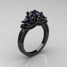 Oh my gosh I need, WANT a black gold ring. Seriously!