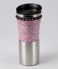 Take a look at this Pink & Black Leopard Travel Mug by The Hair Candy Store on today! Best Travel Coffee Mug, Travel Mugs, Coffee Tumbler, Coffee Mugs, Pink Zebra, Candy Store, Pink Candy, Little Princess, Damask