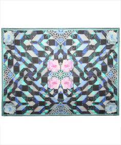 Blue Almodovar Geometric Scarf, Athena Procopiou LIBERTY UK