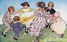 Ring-a-ring-a roses, a pocket full of posies - The Little Mother Goose, 1918