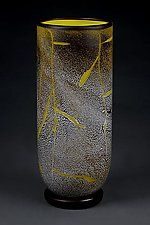 Fissure Vase, Lemon by Eric Bladholm (Art Glass Vessel)