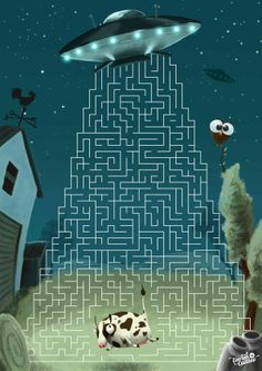 Cow Abducted - Game for Recreio Magzine by Everton Caetano, via Behance