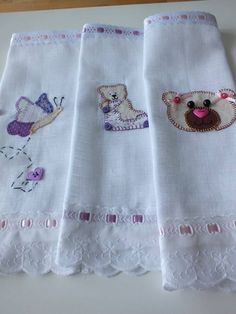 Baby Boutique Clothing, Towel, Silk Ribbon Embroidery, Crochet Edgings, Sewing Ideas, Appliques, Ornaments, Bedspreads, Paintings