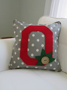 Ohio State inspired Pillow Cover by ThimblePleasure on Etsy https://www.etsy.com/listing/573611808/ohio-state-inspired-pillow-cover