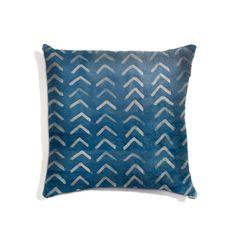 Square Indigo Resist Arrow Pillow