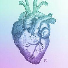 Ink on paper- #heart #heartbeat  #heartbroken #art