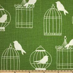 Fabric for clutches  http://www.amazon.com/Wide-Duralee-Birdcage-Green-Fabric/dp/B0085EOO4Q/ref=sr_1_17?s=arts-crafts=UTF8=1358207676=1-17=green+fabric+bird