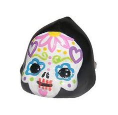 Sugar skull Kewpie ring