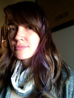 Subtle purple streaks