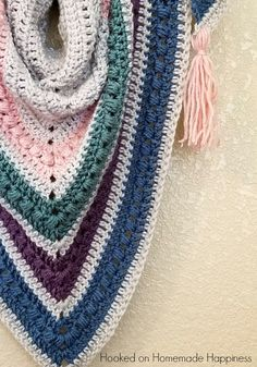 The Spring Shawl - free crochet pattern at Hooked On Homemade Happiness