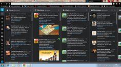Uso do tweetdeck para monitoramento de conteúdo.