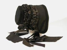 1840, Schute aus Seide, Satin und Tüll