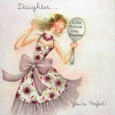 Daughter You're Perfect Birthday Card - £2.95 - FREE UK Delivery! Make Your Purchase : http://www.pippins.co.uk/daughter-you-re-perfect-birthday-card.html