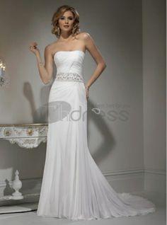 mousseline de soie avec tour de taille de perles et de fines robes de mariée bustier jupe