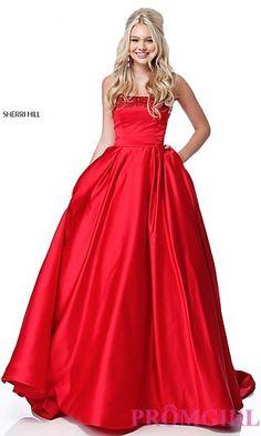 cc6f9d491c8 Sherri Hill A-Line Prom Dress with Pockets