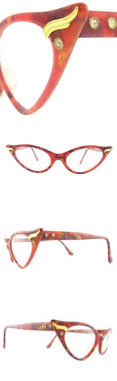 Eyeglasses 175805: Vintage Cat Eye Glasses Eyeglasses Sunglasses New Frame Eyewear Marbled Orange -> BUY IT NOW ONLY: $140 on eBay!