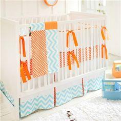 New Arrivals Crib Bedding Orange Crush