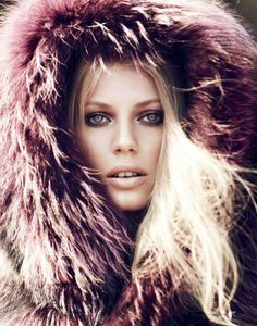 LISETTE VAN DEN BRAND SEDUCES IN FUR FOR ELLE RUSSIA NOVEMBER 2013 #fur #fashion