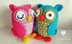 Luciana Ponzo Criações em Crochê: Coruja Amigurumi