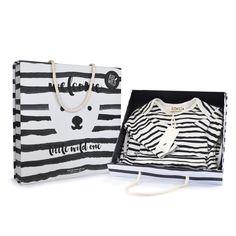 """Little Wild One"" Layette Gift Set - Stripes"