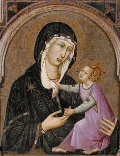 Ugolino di Nerio (1280-1349) — Madonna and Child, 1315-1320  :  Museo di arte sacra, Certaldo.  Italy  (765x1000) Madonna And Child, 14th Century, Siena, Decoupage, Goth, Bible, Byzantine Art, Sacred Art, Museum