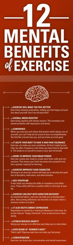12 Mental Benefits of Excercise