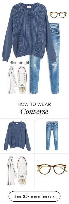 """Read D!"" by sc-prep-girl on Polyvore featuring MANGO, Monki, Linda Farrow Luxe, Converse and facereveal"