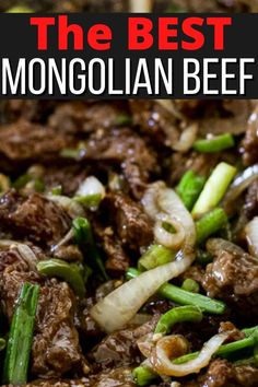 Mongolian beef is thinly sliced beef marinated for flavor then stir fried until crisped and served in a sweet and savory sauce with onions and peppers. Marinated beef stir fried on extremely high heat so it's crisp on the outside, while staying melt-in-your-mouth tender on the inside is what it's all about! Beef Marinade, Marinated Beef, Asian Foods, Asian Recipes, Chinese Beef Dishes, Making Kale Chips, Crispy Noodles, Lamb Dishes, American Dishes