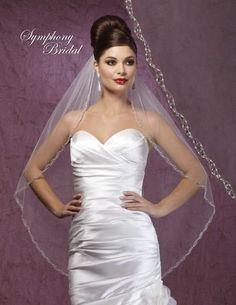 Symphony Bridal Veil 6004VL Light Ivory New | eBay