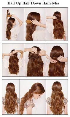 hairstyles tutorial: Make A Half Up Half Down For Your Hair