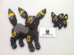Pokemon Umbreon Perler Bead Sprite Art by SDKD on Etsy, $6.00