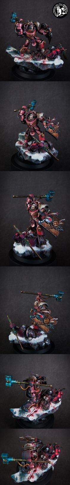 Gabriel Angelos, Blood Ravens chapter master in Terminator armor - Monstroys