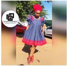 Venda Traditional Attire, Sotho Traditional Dresses, South African Traditional Dresses, Traditional Outfits, Short African Dresses, Latest African Fashion Dresses, Ladies Day Dresses, Seshweshwe Dresses, Elegant Dresses