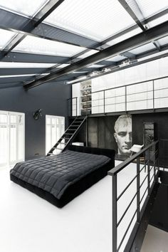 b&w bedroom, can you IMAGINE?