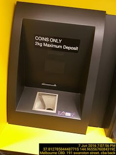 2kg Coins Only Deposit for ATM   Automatic-Teller-Machine Bank Coins